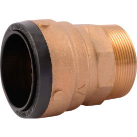 SB115450M SharkBite SB115450M Connector Male, Brass, 2in x 2in MNPT