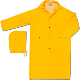 200CL MCR Safety 200CL Classic Rain Coat, Large, .35mm, PVC/Polyester, Detachable Hood, Yellow