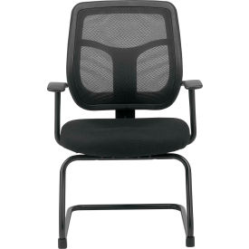 MTG9900-BLK Eurotech Apollo Guest Chair - Black Fabric / Mesh - Armless Arms