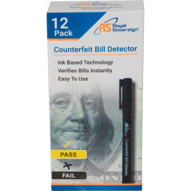 royal sovereign® rcd-1812-rs counterfeit pens - package quantity of 12 Royal Sovereign® RCD-1812-RS Counterfeit Pens - Package Quantity of 12