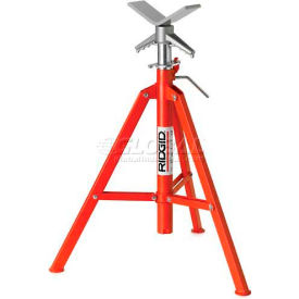 "22168 RIDGID; Model No. Vf-99 V Head High Folding Pipe Stand, 12"" Max. Pipe Capacity, 28""-52"" Height"