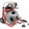 "27013 RIDGID; K-400 Drum Machine W/Bulb Auger & Gloves, 115V, 60HZ,1/3HP, 75""L x 1/2""W Cable"