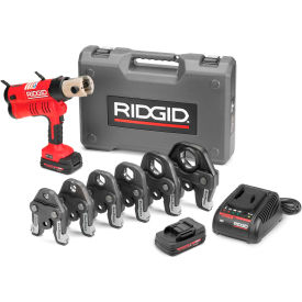 "43358 Ridgid 43358 RP 340 Battery Press Tool Kit w/Propress Jaws, 1/2""-2"""