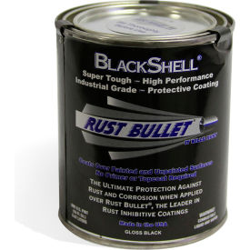 rust bullet blackshell protective coating and topcoat pint can 40/case bsp-c40 Rust Bullet BlackShell Protective Coating and Topcoat Pint Can 40/Case BSP-C40