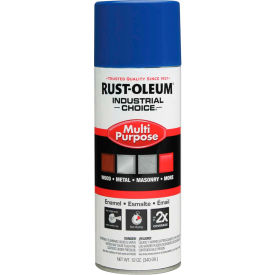 1624830 Rust-Oleum Industrial Choice 1600 System Gen Purpose Enamel Aerosol, Safety Blue, 12 oz.- 1624830