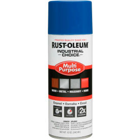 1626830 Rust-Oleum Industrial 1600 System General Purpose Enamel Aerosol, True Blue, 12 oz. - 1626830