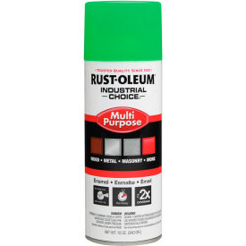 1632830 Rust-Oleum Industrial 1600 System Gen Purpose Enamel Aerosol, Fluorescent Green, 12 oz. - 1632830