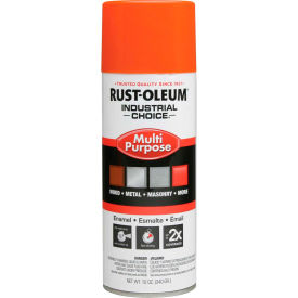 1653830 Rust-Oleum Industrial 1600 System General Purpose Enamel Aerosol, Safety Orange, 12 oz. - 1653830