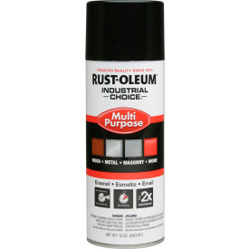 1679830 Rust-Oleum Industrial 1600 System General Purpose Enamel Aerosol, Glossy Black, 12 oz. - 1679830