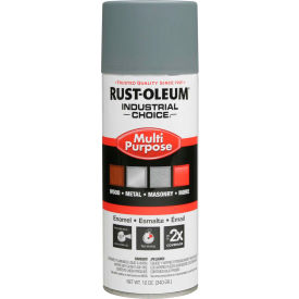 1680830 Rust-Oleum Industrial Choice 1600 System Gen Purpose Enamel Aerosol, Gray Primer, 12 oz.- 1680830