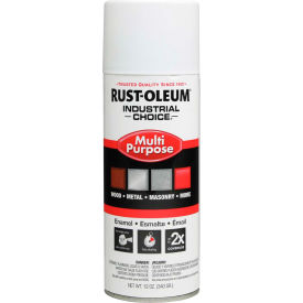 1681830 Rust-Oleum Industrial 1600 System General Purpose Enamel Aerosol, White Primer, 12 oz. - 1681830