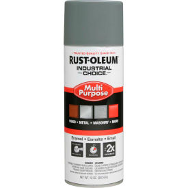1688830 Rust-Oleum Industrial 1600 System General Purpose Enamel Aerosol, Smoke Gray, 12 oz. - 168830