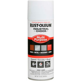 1690830 Rust-Oleum Industrial 1600 System General Purpose Enamel Aerosol, Flat White, 12 oz. - 1690830