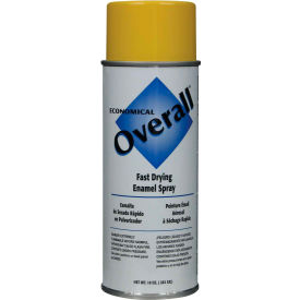 V2409830 Rust-Oleum Yellow Overall Economical Enamel Aerosol, 10 oz. - V2409830