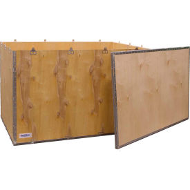 "global industrial™ 4-panel hinged shipping crate with lid, 48"" x 30"" x 30"" o.d. Global Industrial™ 4-Panel Hinged Shipping Crate with Lid, 48"" x 30"" x 30"" O.D."