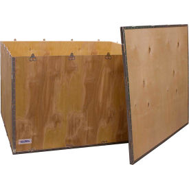 "global industrial™ 6-panel shipping crate with lid, 48"" x 40"" x 30"" o.d. Global Industrial™ 6-Panel Shipping Crate with Lid, 48"" x 40"" x 30"" O.D."