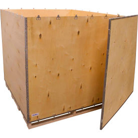 "global industrial™ 6-panel shipping crate with lid & pallet, 60"" x 60"" x 60"" o.d. Global Industrial™ 6-Panel Shipping Crate with Lid & Pallet, 60"" x 60"" x 60"" O.D."