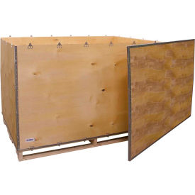 "global industrial™ 6-panel shipping crate with lid & pallet, 72"" x 48"" x 48"" o.d. Global Industrial™ 6-Panel Shipping Crate with Lid & Pallet, 72"" x 48"" x 48"" O.D."