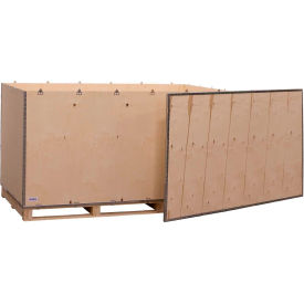 "global industrial™ 6-panel shipping crate with lid & pallet, 84"" x 48"" x 48"" o.d. Global Industrial™ 6-Panel Shipping Crate with Lid & Pallet, 84"" x 48"" x 48"" O.D."