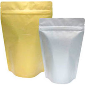 sealer sales mau1p02-nz 16 oz. rice paper stand up pouches, metallized silver, 500/case
