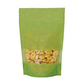 sealer sales pau1p07-nz 16 oz. rice paper stand up pouches, lime green, 500/case
