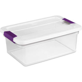"17531712 Sterilite Clearview Storage Box With Latched Lid 17531712 - 15 Qt. 17""L x 11-1/8""W x 6-1/2""H"