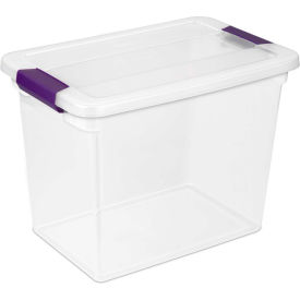 "17631706 Sterilite Clearview Storage Box With Latched Lid 17631706 - 27 Qt. 17""L x 11-1/8""W x 12-3/4""H"