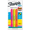 1780475 Sharpie; Accent Gel Highlighter, Smear Block, Assorted Ink, 3/Pack