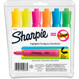 25076 Sharpie; Accent Tank Highlighter, Nontoxic, Chisel Tip, Assorted Ink, 6/Set