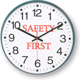 "90/00SF-1 Infinity/Itc 90/00Sf-1  Message Clock - 12"" Diameter - Safety First"