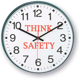 "90/00TS-1 Infinity/Itc 90/00Ts-1  Message Clock - 12"" Diameter - Think Safety"