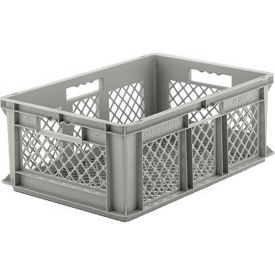 "EF6223.GY1 SSI Schaefer Euro-Fix Mesh Container EF6223 - 24"" x 16"" x 8"", Gray"