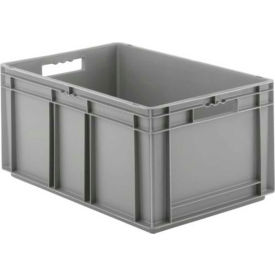 "EF6320.GY1 SSI Schaefer Euro-Fix Solid Container EF6320 - 24"" x 16"" x 13"", Gray"