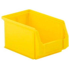 LF090605.0YL1 SSI Schaefer  LF090605.0YL1 - 6 x 9 x 5 LF Hopper Front Plastic Stacking Bin, Yellow,