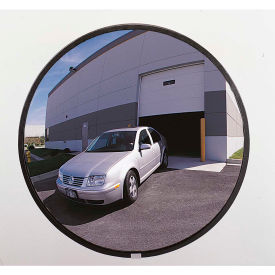 "PLXO26GB See All; 160-Degree Outdoor Acrylic Convex Mirror W/Galvanized Steel Back, 26"" Dia. - PLXO26GB"