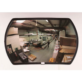 "RR2436 See All; 160-Degree Round Rectangular Glass Convex Mirror - Indoor, 24"" x 36"" - RR2436"
