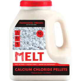 melt 10 lb. jug calcium chloride ice melt pellets - melt10ccp-j professional strength