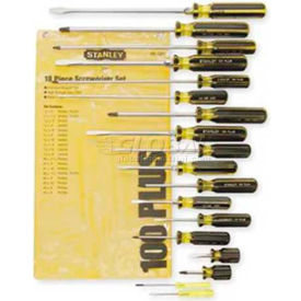 66-520-A Stanley 66-520-A 100 Plus; 18 Piece Combination Screwdriver Set