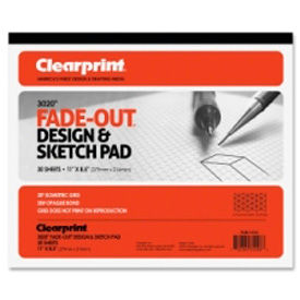 "clearprint® grid paper pad, 20lb., 30 degree isometric, 8-1/2""x11"", 30 sheets"