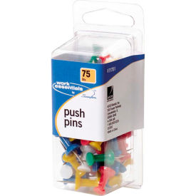swingline push pins - 75 / pack - assorted Swingline Push Pins - 75 / Pack - Assorted