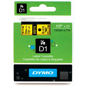 "45018 DYMO; D1 Standard Labels 1/2"" Black on Yellow"