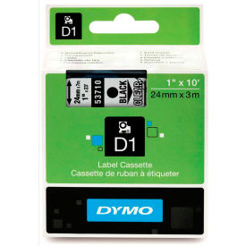 "53710 DYMO; D1 Standard Labels 1"" Black on Clear"