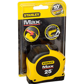 "33-279 Stanley; Max; 1 1/8"" x 25 Tape - English"