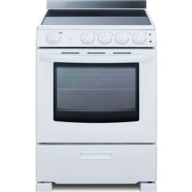 "summit-range, electric, smooth top, 4 burners, 2.9 cu.ft., white, 24.25"" x 23.75"" x 36.5"" Summit-Range, Electric, Smooth Top, 4 Burners, 2.9 Cu.Ft., White, 24.25"" x 23.75"" x 36.5"""