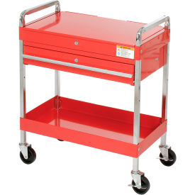 "8013A Sunex Tools 8013A 30"" Red Tool Cart W/ Locking Top & Drawer"
