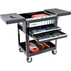 "8035 Sunex Tools 8035 29"" 2 Drawer Slide Top Black Tool Cart W/ 5"" Casters"