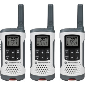 T260TP Motorola Talkabout ; T260TP Rechargeable Two-Way Radios, White - 3 Pack