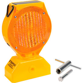 5785469 Tapco; 5785469 Individual Solar LED Barricade Light, Amber, 3-Way On/Off Switch