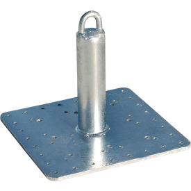 "tie down engineering 14"" commercial roof anchor, galvanized steel, 310 lbs. capacity"