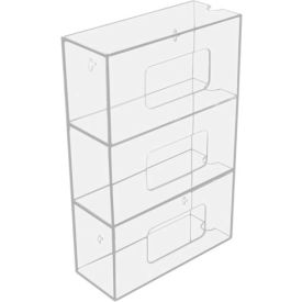 "50826 TrippNT; 50826 Triple Side Loading Acrylic Glove Box Holder, 10""W x 4""D x 16""H"